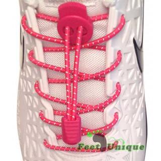 Cadarços refletivos elásticos rosa-choque