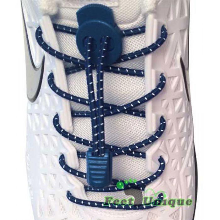 Cadarços refletivos elásticos azul-marinho