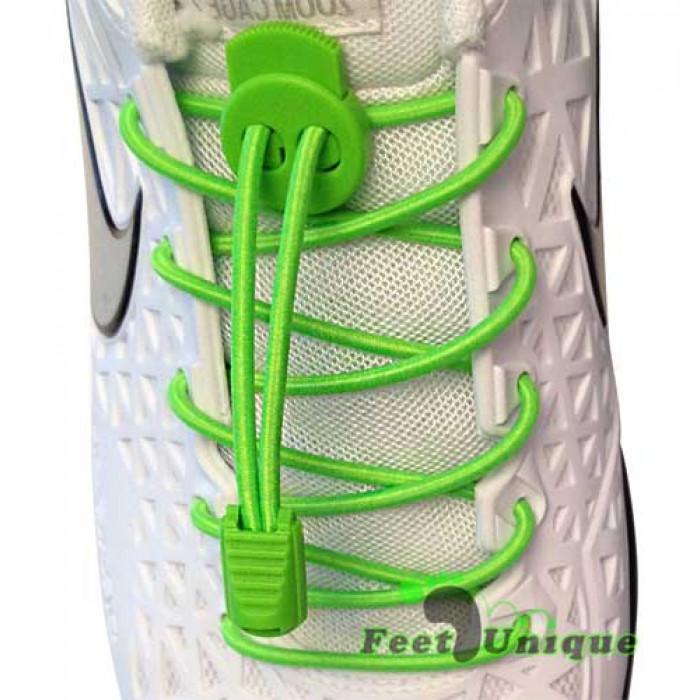 Cadarços elásticos verde neon