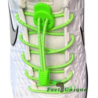 Cadarços refletivos elásticos verde neon