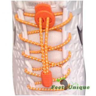 Cadarços refletivos elásticos laranja neon