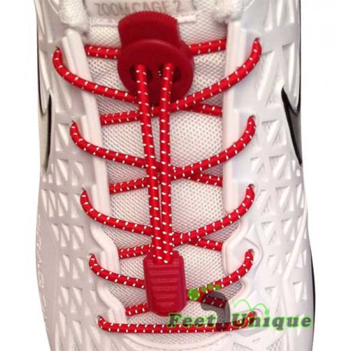 Cadarços refletivos elásticos vermelhos