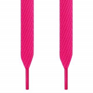 Cadarços cor rosa-choque largos