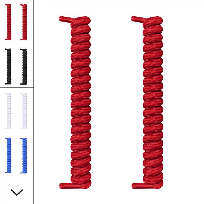 Cadarços vermelhos com espiral