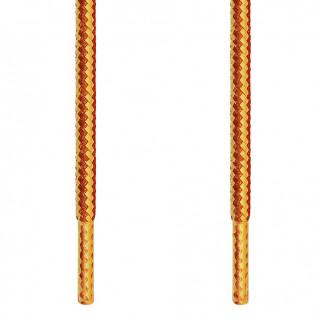 Cadarços redondos marrom-amarelo