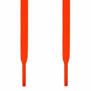 Cadarços ovais laranja neon