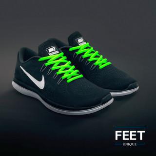 Cadarços ovais verde-neon