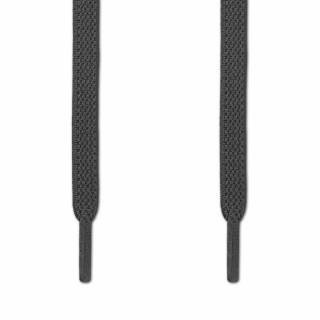 Cadarços chatos elásticos cinza-escuro (estica e puxa)