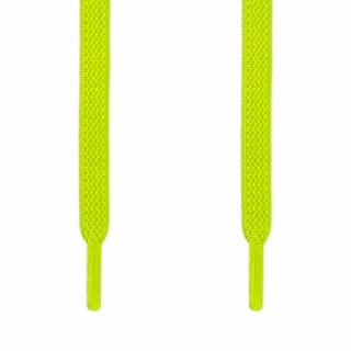 Cadarços elásticos chatos amarelo neon (estica e puxa)