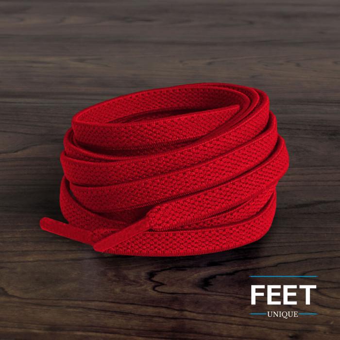 Cadarços elásticos vermelhos (estica e puxa)