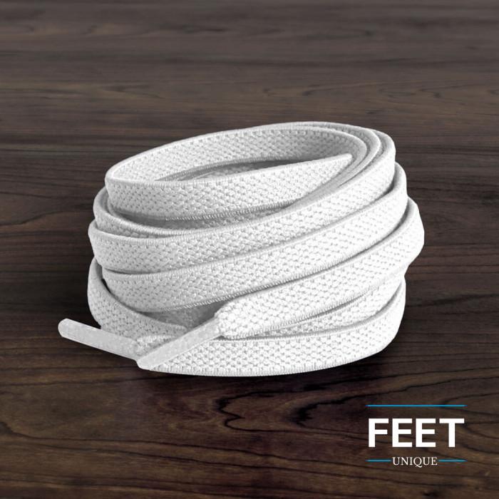 Cadarços elásticos brancos (estica e puxa)
