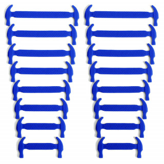 Cadarços elásticos azuis de silicone