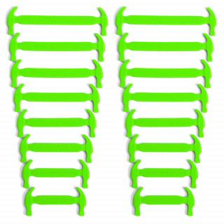 Cadarços elásticos verde neon de silicone