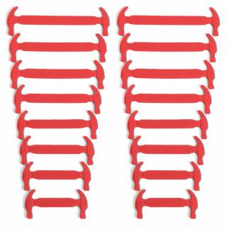 Cadarços elásticos vermelhos de silicone