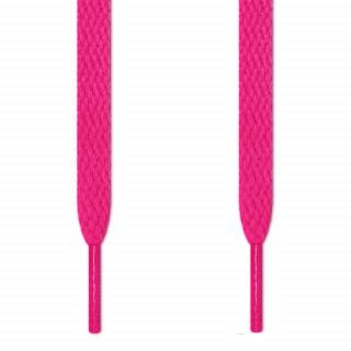 Cadarços chatos rosa-choque