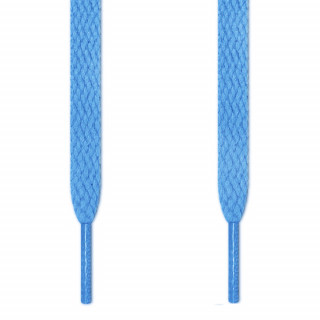 Cadarços chatos azul-claros