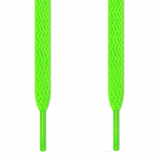 Cadarços chatos verde neon