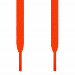 Cadarços chatos laranja neon
