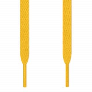 Cadarços chatos amarelos